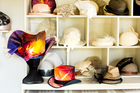 Helensville-based milliner Myra Lloyd's studio. Photo / Babiche Martens
