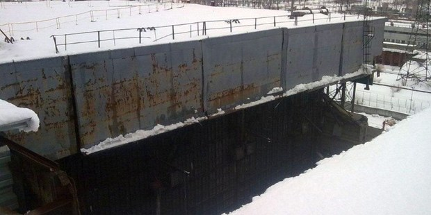 A section of the Chernobyl nuclear power plant collapsed under the weight of snow. Photo / AFP