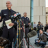 Los Angeles Police Commander Andrew Smith, left, briefs the media about the shootout scene in Big Bear that allegedly involves triple-murder suspect Christopher Jordan Dorner. Photo / AP