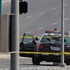 Police officers investigate the site of a shooting in Corona, California. Dorner is suspected of shooting two LAPD officers who were sent to protect someone Dorner threatened in an online manifesto.  Photo / AP