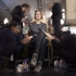 Backstage before the Theyskens' Theory Fall 2013 fashion show. Photo / AP
