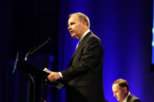 'We want Auckland to be a high-wage community, but we also have to be a high-job community,' says Len Brown.  Photo / Michael Craig