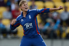 Joe Root of England celebrates dismissing Ross Taylor. Photo / Getty Images,