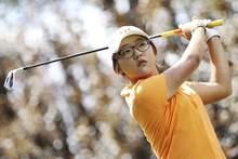 Lydia Ko of New Zealand tee's off during day two of the ISPS Handa Australian Open at Royal Canberra Golf Club. Photo / Getty Images.
