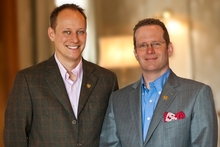 Miles Refo and Hall Cannon, co-owners of the Otahuna Lodge. Photo / Supplied