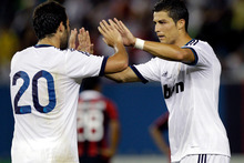 Cristiano Ronaldo scored his 20th hat-trick as a Real Madrid player as the Spanish champions cruised to a 4-1 victory over Sevilla overnight (NZT). Photo / AP