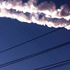 In this photo taken with a mobile phone camera, a meteorite contrail is seen in Chelyabinsk region. Photo / AP