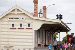 The refurbished railway station on St George St is a reminder of Papatoetoe's history. Photo / Greg Bowker