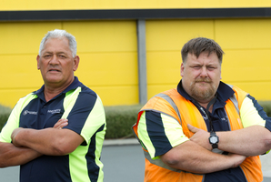 Foodstuffs truck drivers Murphy (Junior) Ipo and James Canty are being made redundant next month. Photo / Richard Robinson