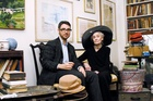 'Advanced Style' blogger Ari Seth Cohen, who has shot the new Karen Walker Eyewear campaign, with Mimi Weddell. Photo / Supplied