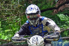 Taranaki's Adrian Smith (BikesportNZ.com Yamaha YZ250) is determined to defend his national cross-country crown. Photo / Andy McGechan