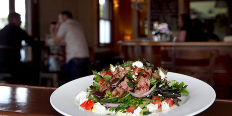 Prague Cafe and Bar's warm lamb salad. Photo / Natalie Slade