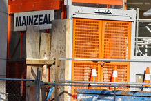 The crash of Mainzeal spells trouble for projects like Shed 10 at Queens Wharf. Photo / APN