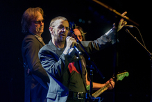 Ringo Starr belts out an oldie but a goodie during his concert at Vector Arena in Auckland on Saturday night. Photo / APN