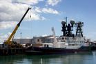 The 87.5m superyacht Arctic P, owned by Australian billionaire James Packer. Photo / Brett Phibbs