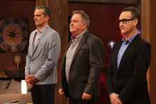 Masterchef NZ judges (from left) Josh Emett, Simon Gault, and Ray McVinnie. Photo / Frances Oliver