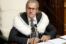 David Carter in the regalia he intends to wear as Speaker. Photo / Mark Mitchell