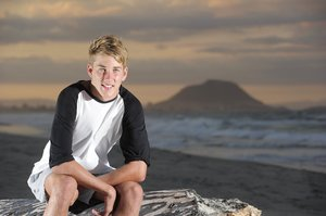 Josh Jarvis saved a life while training on the beach. Photo / APN