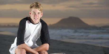 Josh Jarvis, 15, saved a life while training on the beach. Photo / George Novak