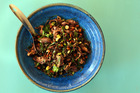 Lamb puy lentil salad. Photo / Doug Sherring HOS