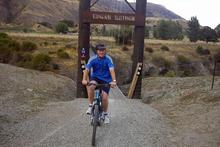 John Key on the Arrow River Bridges Ride, Queenstown. Photo / Supplied