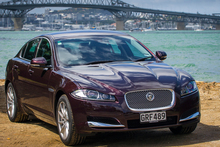 The new Jaguar XF is powered by a two-litre 'Ecoboost' engine. Photo / Ted Baghurst