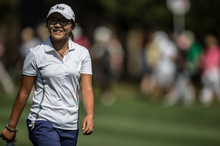 Lydia Ko set a course record during her first round at Royal Canberra. Photo / ALPG