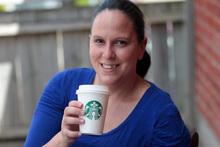 Coffee addict Lesley Khan. Photo / Doug Sherring