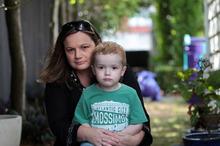 Vicki Martin and son Corban. Photo / Doug Sherring