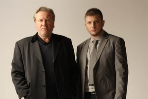 Plan B (Ben Drew) and Ray Winstone in the film version of The Sweeney. Photo / Supplied