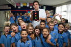 Teacher Cameron Ross and his Year 4 class at Torbay School. Photo / Kellie Blizard
