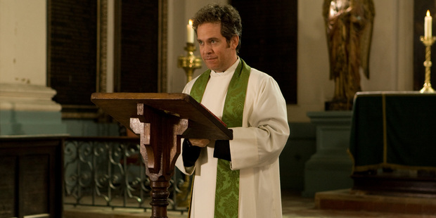 Tom Hollander stars in the second series of  Rev  on UKTV. Photo / Supplied