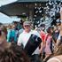 Luke Dallow sets off confetti. Photo / Neville Marriner