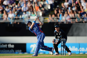 Luke Wright of England bats during the T20 International between New Zealand and England at Eden Park. Photo / Getty Images