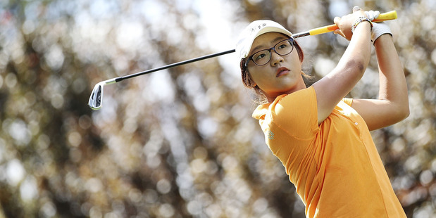 Lydia Ko, 15, is well in the hunt to claim her third national open championship in a year at the ISPS Handa Australian Open at Royal Canberra golf course. Photo / Getty Images