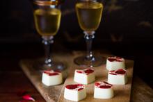 Strawberry Balsamic Valentine's chocolates $2.20 each from Colestone Chocolates. Photo / NZH