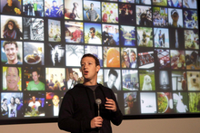 Facebook CEO Mark Zuckerberg speaks at Facebook headquarters in Menlo Park, California. Photo /AP