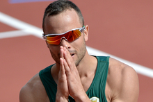 Oscar Pistorious at the London Olympics. Photo / AP