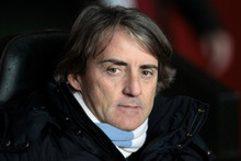 Mancini's second-placed team have now gone three league games without a win. Photo / AP