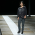 Belgian-born designer Olivier Theyskens appears on the runway at the conclusion of the Theyskens Theory Fall 2013 runway show. Photo / AP