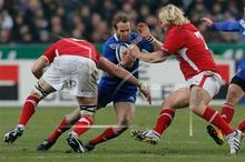 Frederic Michalak (centre) and his French team-mates wilted against the Six Nations challenge of Italy