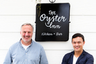 Jonathan Rutherfurd Best and Andrew Glenn owners of The Oyster Inn on Waiheke island. Photo / Babiche Martens, NZH