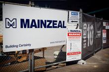 Mainzeal construction. Photo / Natalie Slade
