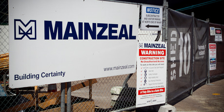 Mainzeal construction. Photo / Natalie Slade
