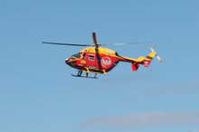 A Westpac Rescue Helicopter says the injured man was fortunate not to be thrown from the bulldozer cab during its fall. File photo / Herald on Sunday