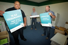 Census district supervisors get ready for the Census. Photo / Stuart Munro