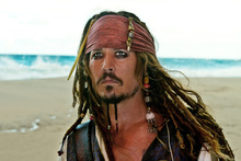 Johnny Depp, who plays Jack Sparrow, scores with two sons. Photo / Supplied