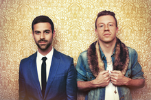 Rapper Macklemore, right, and music producer Ryan Lewis. Photo / Supplied