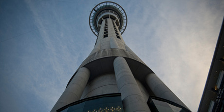 The Sky Tower at  SkyCity's Auckland casino headquarters. Photo / NZ Herald