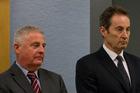 Capital+Merchant Finance director Wayne Douglas and director Neal Nicholls in court last year.  Photo / Sarah Ivey